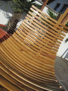 AS-S DESIGN Hängeliege Schwebeliege Schaukelliege NAVASSA-SEAT-GRÜN aus Holz Lärche / Metall mit Auflage (OHNE Gestell) - Vorschau 4