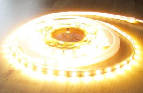 SET 6050 Lumen 5m Ultra-Highpower LED Streifen mit 300 2835 LED's warmweiß weiss weiß superhell wasserfest IP65 inkl. Netzteil 24V Pro-Serie TÜV/GS geprüft - Vorschau 3