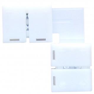 LED Streifen Eck 90° mit 2 Verbindern für einfärbige LED Streifen 8mm von AS-S