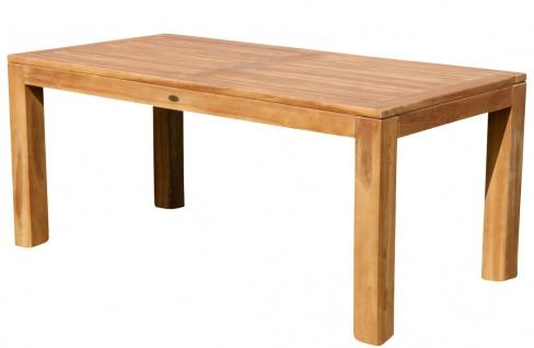 AS-S Wuchtiger Echt Teak Bigfuss Gartentisch 180x90 Holztisch Teaktisch Garten Tisch Holz