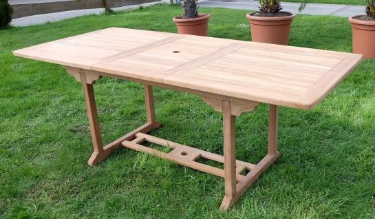 TEAK XXL Ausziehtisch 150/200-210 x 90 cm Holztisch Gartentisch Garten Tisch Holz SABA von AS-S - Vorschau 3