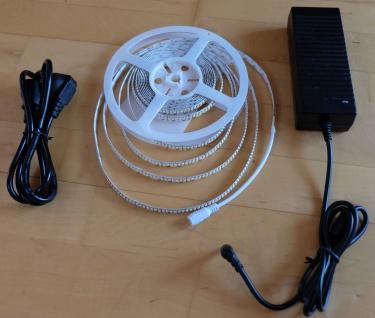 SET 5520 Lumen 5m Ultra Highpower LED Streifen 1200 LED in einer Reihe neutralweiß natur weiss weiß inkl. 24V Netzteil (Pro-Serie) TÜV/GS geprüft - Vorschau 4