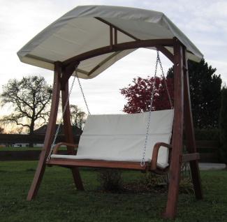 AS-S Design Hollywoodschaukel Gartenschaukel Schaukelbank KUREDO mit Dach aus Holz Lärche - Vorschau 3