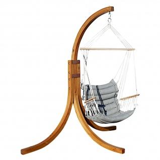AS-S DESIGN Hängesessel MALY geknüft mit weichem Sitz Polster Holz Gestell aus Lärche komplett NAV-MALY angenehmer Sitzkomfort im 6cm dicken Kissen
