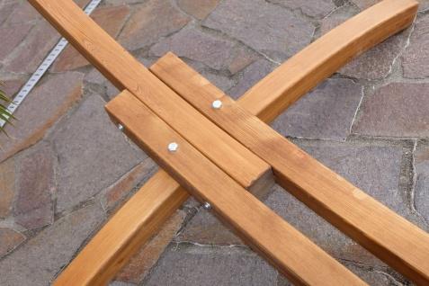 320cm Hängemattengestell HM3-BRAUN-BENT aus Holz Lärche mit Stab Hängematte NEU: mit gebogenem Stab - Vorschau 3
