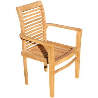ECHT TEAK Design Gartensessel Gartenstuhl Sessel Holzsessel Gartenmöbel Holz sehr robust Modell: ALPEN von AS-S