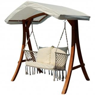 Design Hollywood Schaukel mit Sitzbank Waikiki aus Holz Lärche mit Dach von AS-S