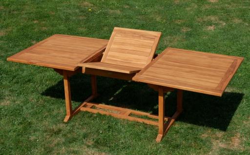 TEAK XXL Ausziehtisch Holztisch Gartentisch Garten Tisch L: 180/240cm B: 100cm Gartenmöbel Holz sehr robust Modell: JAV-TOBAGO240 von AS-S - Vorschau 3