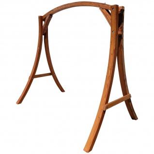 AS-S Holzgestell Gestell für Hollywoodschaukel Hollywoodschaukelgestell MERU aus Holz Lärche mit Dach für innen und außen ohne Sitz