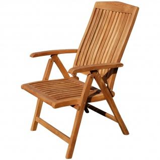 AS-S Teak Design Hochlehner Gartensessel Gartenstuhl Sessel Holzsessel Klappsessel Gartenmöbel Holz sehr robust 7fach-verstellbar Modell: JAV-TOBAGO