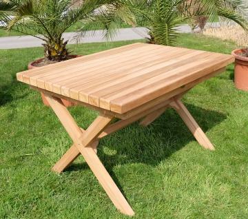 TEAK Gartentisch 120x90cm RIO