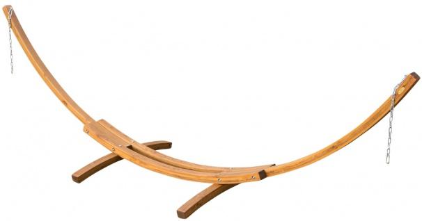 415cm XXL Luxus Hängemattengestell PANAMA aus Holz Lärche coffee-braun ohne Hängematte von AS-S