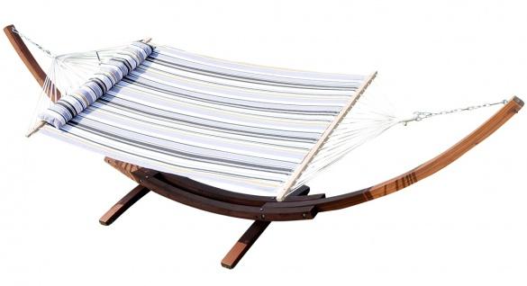410cm Xxl Luxus Hängemattengestell Limited Edition G Aus Holz Lärche Mit Stab Hängematte (edelstahl - Gepolstert) - Vorschau 1