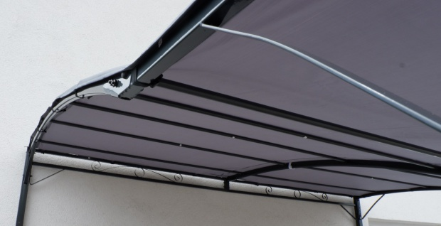Wand Anbau Pavillon 3 x 2, 5 Meter mit Dach 100% wasserdicht UV30+ Model: TOPEA anthrazit - Vorschau 5