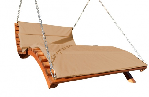 """Design Hollywoodliege """" ARUBA-LOUNGER-BRAUN"""" aus Holz Lärche (ohne Gestell) von AS-S"""