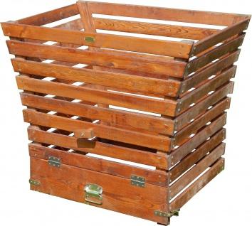 Großer Holz Komposter 520 Liter Volumen extrem Stablil aus Lärche 104x68cm von AS-S