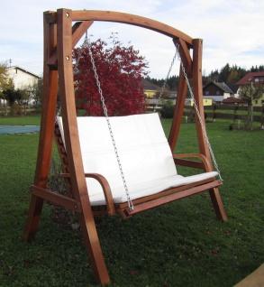 AS-S Design Hollywoodschaukel Gartenschaukel Schaukel Holzschaukel Hollywood Swing aus Holz Lärche Modell KUREDO103OD - Vorschau 2