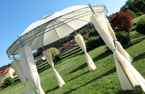 Eleganter Gartenpavillon Pavillon 3, 5 Meter Durchmesser rund mit Dach 100% wasserdicht UV30+ und 6 Vorhängen MARSEILLE von AS-S - Vorschau 3