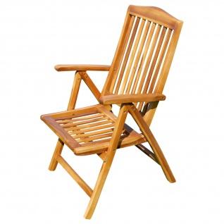 AS-S echt TEAK Hochlehner Gartensessel Gartenstuhl Sessel Holzsessel Klappsessel Gartenmöbel 7fach verstellbar Holz sehr robust SUMMER BARCELONA