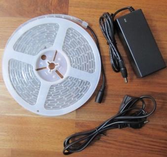 SET 2550 Lumen 5m Led Streifen 600 LED warmweiß wasserfest IP65 inkl. Netzteil 24V Pro Serie TÜV/GS geprüft von AS-S - Vorschau 3