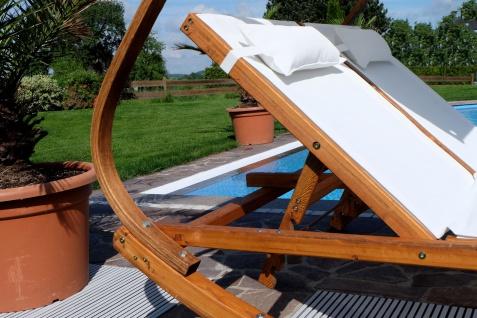 Doppel - Sonnenliege TULUM extrabreit für 2 Personen mit verstellbarem Dach aus Holz Lärche - Vorschau 2