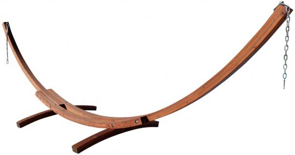410cm XXL Luxus Hängemattengestell LIMITED EDITION aus Holz Lärche ohne Hängematte (EDELSTAHL)