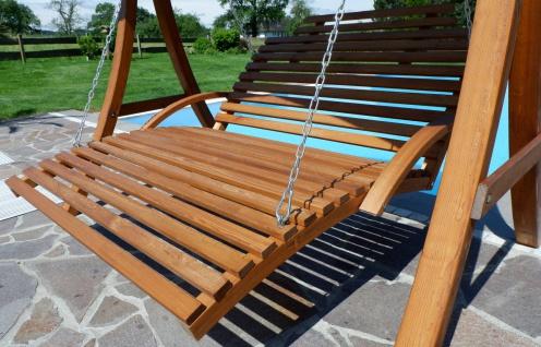 AS-S Design Hollywoodliege Hollywoodschaukel MACAO-OD aus Holz Lärche ohne Dach von - Vorschau 5