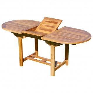 AS-S echt TEAK Holz Ausziehtisch 140-180 x 80 cm Holztisch Gartentisch Tisch ausziehbar SUMMER-2020