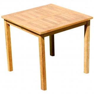 TEAK Holztisch Gartentisch Garten Tisch 80x80cm Gartenmöbel Holz sehr robust Modell: JAV-ALPEN80 von AS-S
