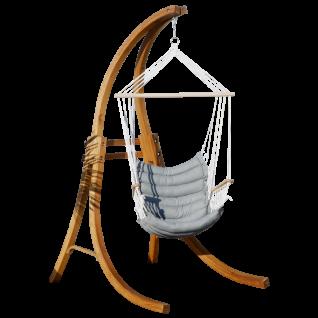 AS-S DESIGN Hängesessel Hängestuhl MALY mit Gestell aus Holz Lärche CAT-MALY Holzgestell komplett mit Stoffsessel