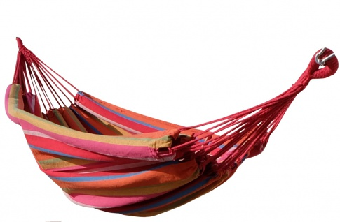 AS-S Hängematte Tuchhängematte Ersatzhängematte 150x200 BUNT ohne Stab aus Baumwolle