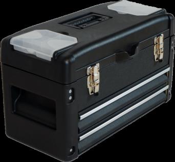 METALL Werkzeugkiste mit 6 Funktionen WK2-B BLACK EDITION