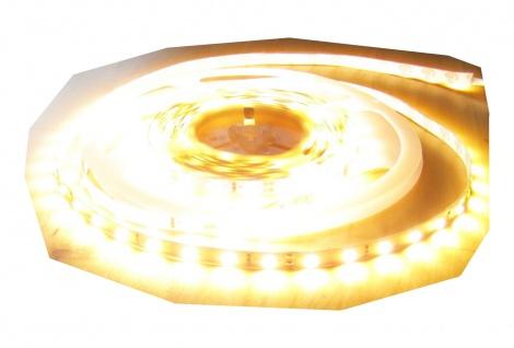 SET 6100 Lumen 5m Ultra Highpower Led Streifen mit 300 2835 LED's warmweiß weiss superhell inkl. Dimmer mit Fernbedienung mit Netzteil 24V (Pro-Serie) TÜV/GS geprüft von AS-S