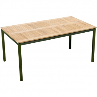 Edelstahl Teak Gartentisch 160x90 cm Holztisch Esstisch Tisch massive Ausführung A-Grade Teakholz KUBA
