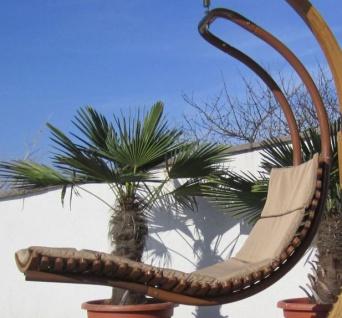 DESIGN Hängeliege NAVASSA-SEAT aus Holz Lärche / Metall mit Auflage (OHNE Gestell)