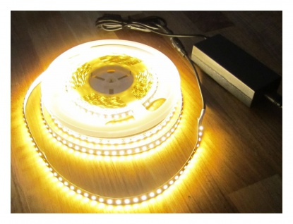 AS-S LED Streifen SET 10m 5320 Lumen Led Stripe Strip 1200 LED warmweiß inkl. Netzteil 24 V Pro-Serie TÜV/GS geprüft