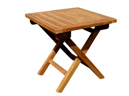 TEAK Klapptisch Holztisch Gartentisch Garten Tisch Beistelltisch 45x45cm Holz PICNIC von AS-S