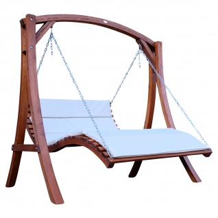Design Hollywoodliege Hollywoodschaukel Doppelliege ARUBA-OD aus Holz Lärche ohne Dach