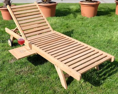 Hochwertige TEAK Sonnenliege Gartenliege Strandliege Liegestuhl Holzliege Holz sehr robust Modell: COZY