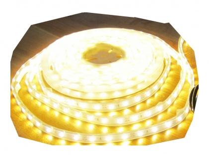 6050 Lumen 5m Ultra-Highpower LED Streifen mit 300 2835 LED's warmweiß warm weiss weiß superhell wasserdicht IP65 24V ohne Netzteil