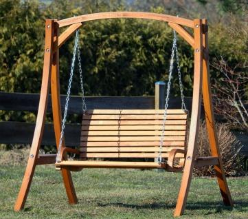AS-S Design Hollywoodschaukel Gartenschaukel Hollywood Schaukel KUREDO-OD aus Holz Lärche - Vorschau 5