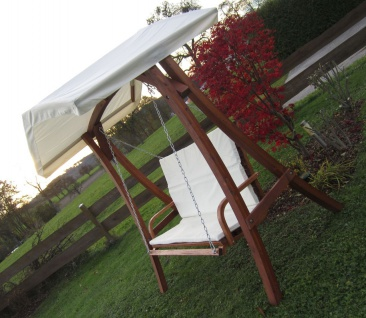 """Design Hollywoodschaukel """" KUREDO 103"""" aus Holz Lärche mit Dach - Vorschau 4"""