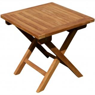 AS-S TEAK Klapptisch Holztisch Gartentisch Garten Tisch Beistelltisch 45x45cm Holz JAV-PICNIC