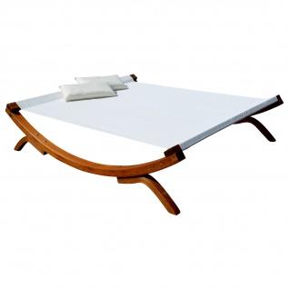 XXL Sonnenliege Doppelliege SAONA OD Holz Lärche extrabreite Liegefläche für 2 Personen