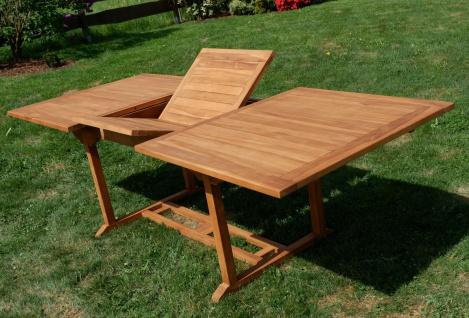 TEAK XXL Ausziehtisch Holztisch Gartentisch Garten Tisch L: 180/240cm B: 100cm Gartenmöbel Holz sehr robust Modell: JAV-TOBAGO240 von AS-S - Vorschau 5