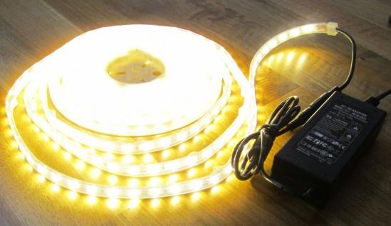 SET 1280 Lumen 5m Led Streifen 300 LED warmweiß warm weiß inkl. Netzteil 24V Pro-Serie TÜV/GS geprüft