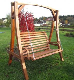 AS-S Design Hollywoodschaukel Gartenschaukel Schaukel Holzschaukel Hollywood Swing aus Holz Lärche Modell KUREDO103OD - Vorschau 5
