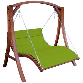 Design Hollywoodliege Hollywoodschaukel ARUBA-OD aus Holz Lärche ohne Dach GRÜN von AS-S