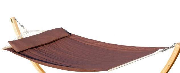 DESIGN Hängematte 120x200cm gefüttert mit Kopfkissen braun aus Baumwolle von AS-S