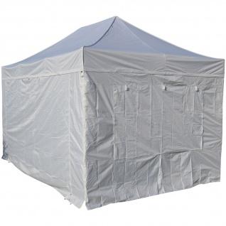 3x4, 5m ALU Profi Faltzelt Marktzelt Marktstand Tent 50mm HEX mit Metallgelenken und FEUERHEMMENDEN PLANEN